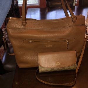 Coach Purse with matching Coach Wallet